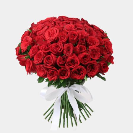 Send red flowers to Karachi - revaayat