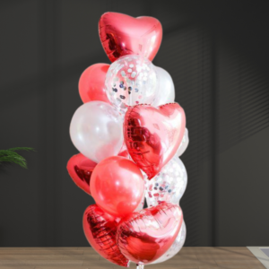 bunch of red balloons for valentines