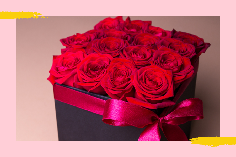 red roses box for valentines gift pakistan