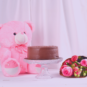 flower, cake and gift combo for couples on anniversary and Valentines day