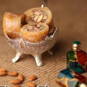 from Jamil sweets, badam patisa mithai