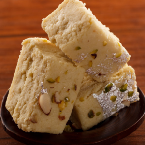 Edible gifts including mithai and sweet snacks