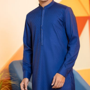 blue semi formal kurta for boys