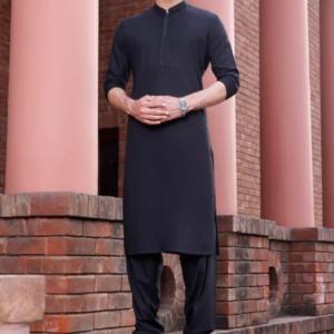 delivering Stylish Black kurta as Eidi for him Pakistan